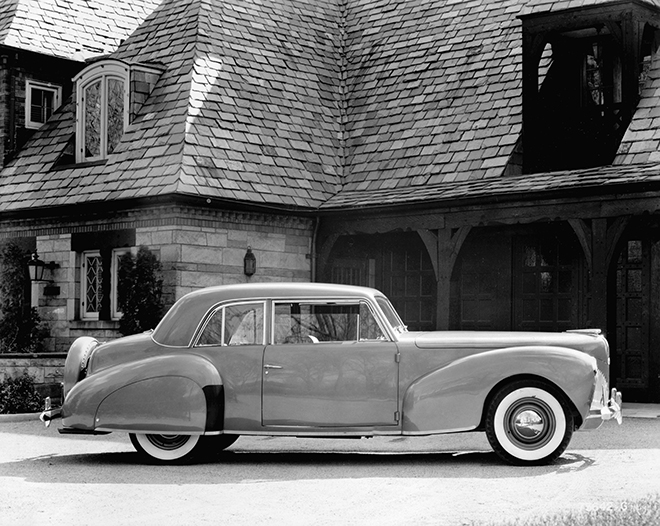1940 Lincoln Continental coupe (neg 130692-001).