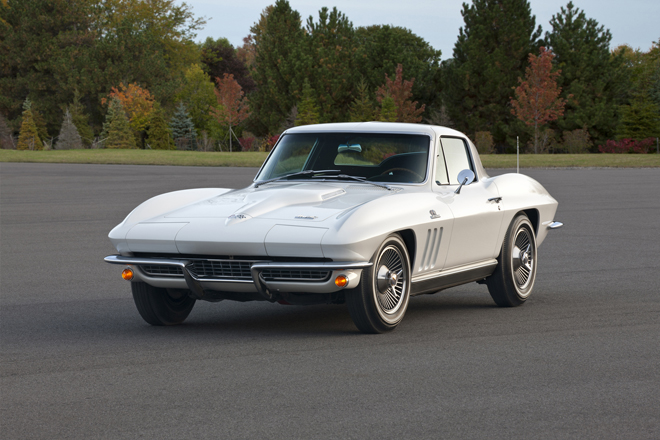 "1966 Chevrolet Corvette Sting Ray Coupe -- the second generation of the Corvette was produced from 1963 to 1967 and introduced the landmark ""split rear window Estyling"
