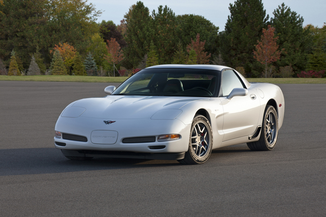 2001 Chevrolet Corvette Coupe -- the fifth generation of the Corvette was produced from 1997 to 2004 and made advancements in lightweight materials, weighing a 100 pounds less than the previous generation