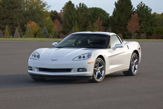 2013 Chevrolet Corvette Coupe -- the sixth generation of the Corvette was produced from 2005 to 2013 and featured fixed headlamps for the first time since the 1962 model.  The Z06 and ZR1 models raised the bar on total performance
