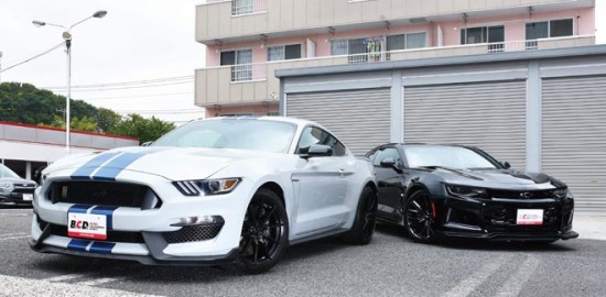 Ford Mustang SHELBY GT350、Chevrolet Camaro ZL1